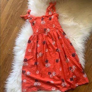 Gymboree dress size S (5-6)  orange floral